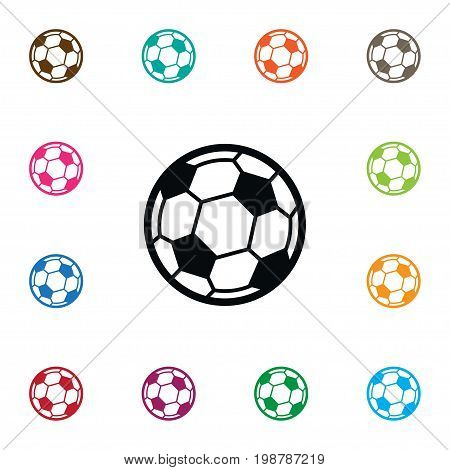 Soccer Vector Element Can Be Used For Soccer, Ball, Football Design Concept.  Isolated Game Icon.