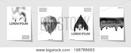 Trendy Template Set With Futuristic Modern Shapes For Poster, Cover, Card, Broshure, Banner.