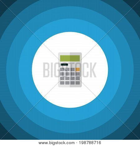 Calculate Vector Element Can Be Used For Calculator, Calculate, Finance Design Concept.  Isolated Calculator Flat Icon.