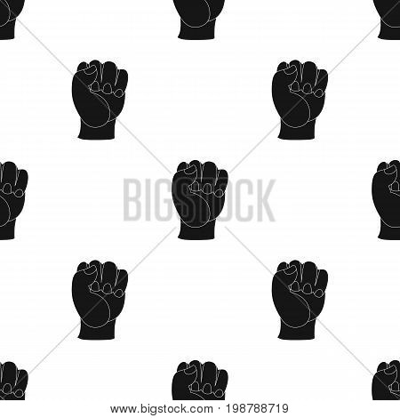 Boxing fist icon in black style isolated on white background. Boxing symbol vector illustration.
