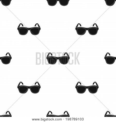 trendy sunglasses icon in black design isolated on white background. Brazil country symbol stock vector illustration.