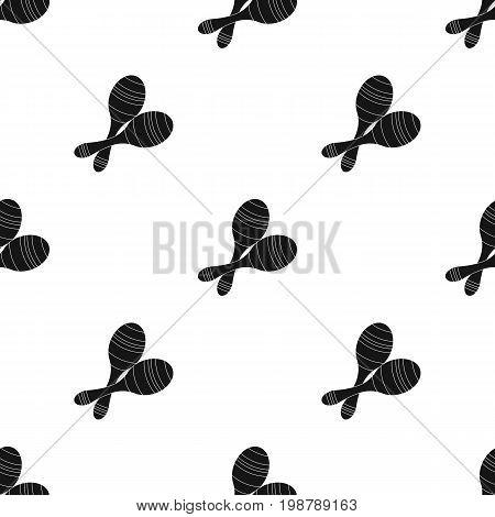 Brazilian maracas icon in black design isolated on white background. Brazil country symbol stock vector illustration.