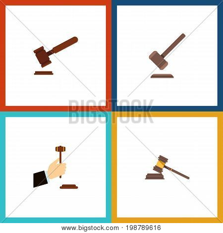 Flat Icon Court Set Of Court, Law, Tribunal And Other Vector Objects