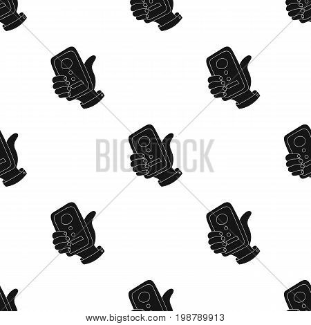 Call conference icon in black design isolated on white background. Conference and negetiations symbol stock vector illustration.