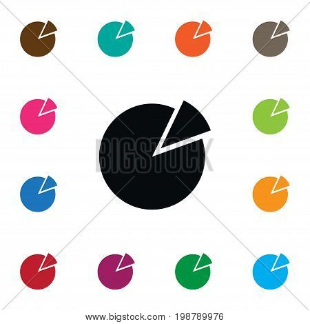 Circle Diagram Vector Element Can Be Used For Pie, Circular, Chart Design Concept.  Isolated Pie Bar Icon.