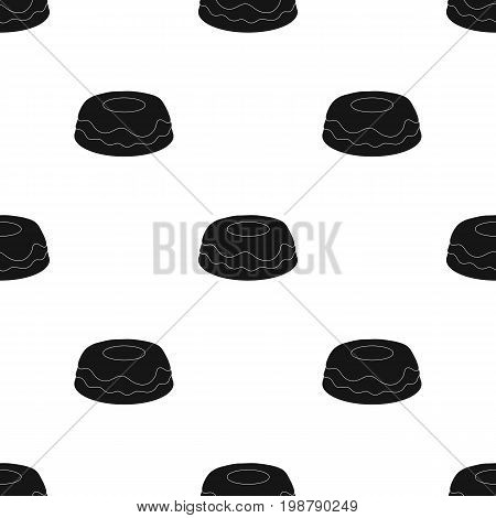 Cake icon in black design isolated on white background. Cakes symbol stock vector illustration.