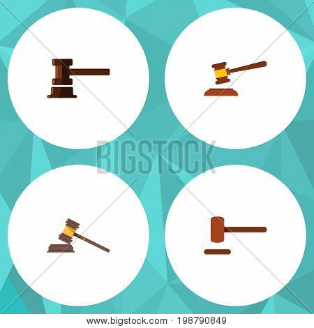 Flat Icon Hammer Set Of Defense, Government Building, Hammer And Other Vector Objects