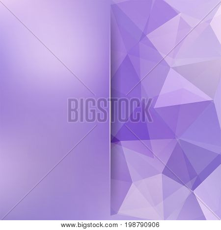Abstract Violet Mosaic Background. Blur Background. Triangle Geometric Background. Design Elements.