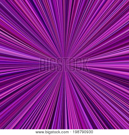 Abstract purple ray burst background from radial stripes - vector design