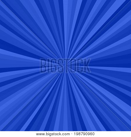 Abstract starburst background from radial stripes in blue tones