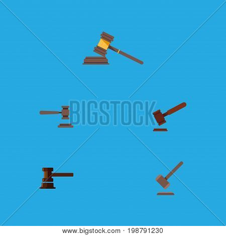 Flat Icon Lawyer Set Of Justice, Court, Tribunal And Other Vector Objects