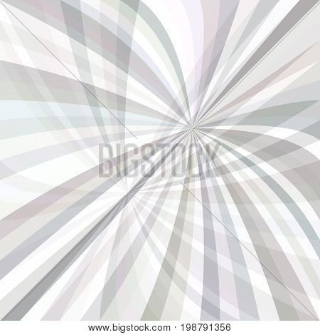 Abstract curved ray burst background - vector graphic from curves in light grey tones with opacity effect