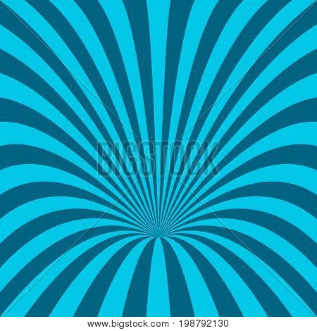 Light blue abstract hole background - vector design from curved rays
