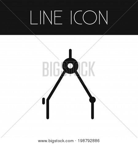 Orientation Vector Element Can Be Used For Direction, Orientation, Compass Design Concept.  Isolated Direction Outline.