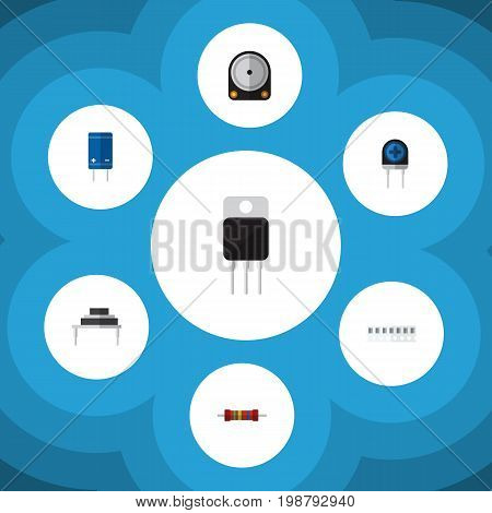Flat Icon Electronics Set Of Receiver, Destination, Hdd And Other Vector Objects