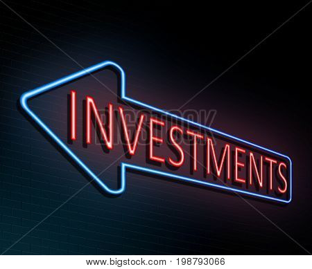 Neon Investments Concept.