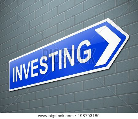 Investing Sign Concept.