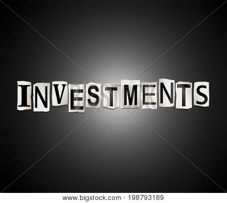 Investments Word Concept.
