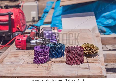 Multicolored Nails For Pneumatic Nail Gun