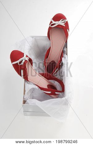 Sexy red women shoes in the box
