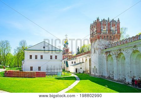 The Courtyard Of Novodevichy Convent