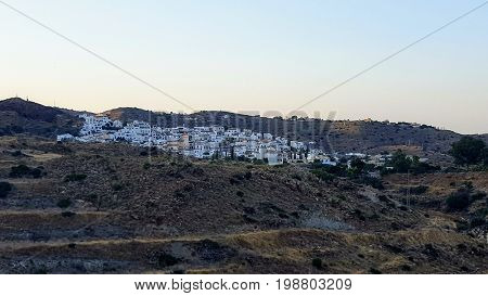 small town of spain with withe houses