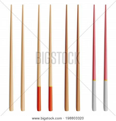 Food Chopsticks Set Isolated Vector Icon, Symbol, Sign Illustration. Japanese, Chinese, Asian Food Chopsticks Isolated