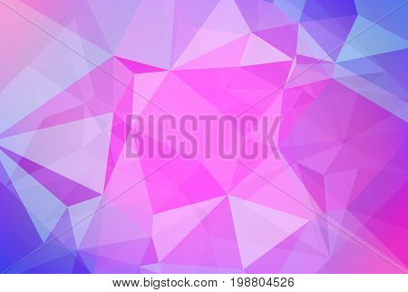 Gradient abstract horizontal triangle background. Cool ice colored polygonal backdrop for business presentation. Soft gradient color transition for mobile application and web. Trendy colorful banner