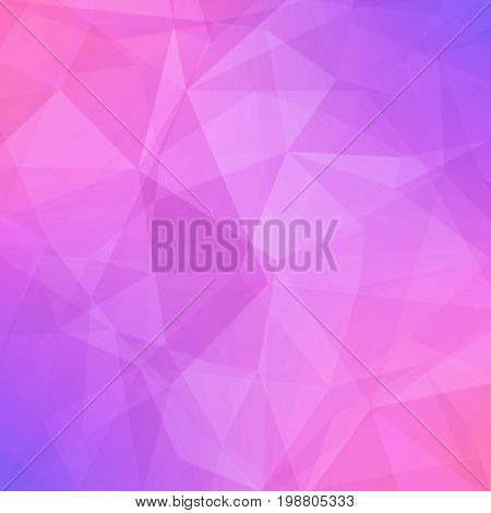 Gradient abstract square triangle background. Tender smooth polygonal backdrop for business presentation. Soft gradient color transition for mobile application and web. Trendy geometric banner.