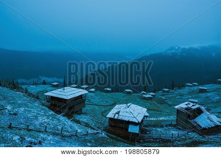 Abandoned Village Of Shepherds In Mountains
