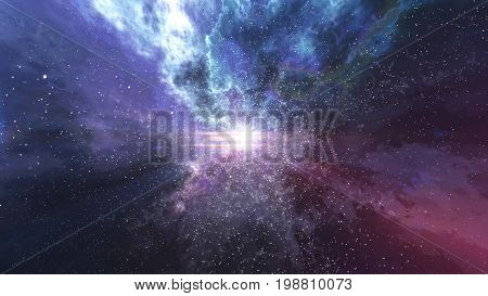 Big Bang With Futuristic Sparkling Lightning Lines