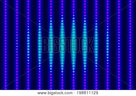 Electronic digital blue abstract disco background. Vector illustration