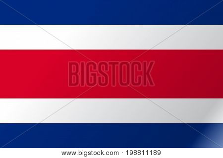 Flag Costa Rica flat icon. State insignia of the nation in flat style on the entire page. National symbol in the form of a vector illustration