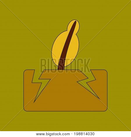 flat icon on stylish background natural disaster earthquake