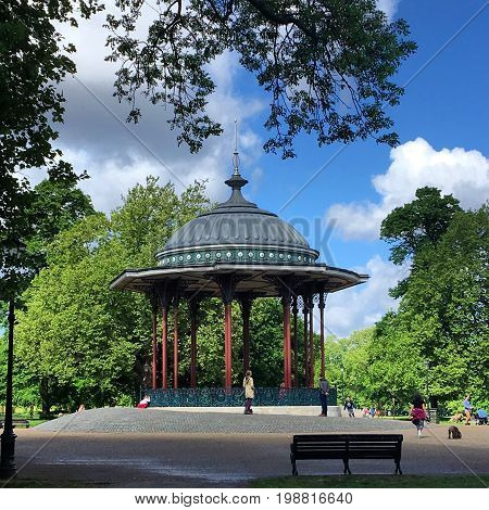 Clapham Common a traditional Bandstand in Clapham London England