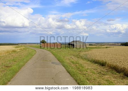 Farm Buildings And Footpath