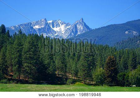 Trapper Peak is a jagged, granite mountain in Montana's Bitterroot range.
