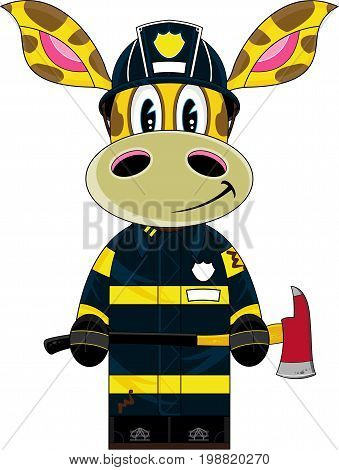 Cute Fireman Giraffe.eps