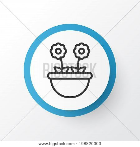 Premium Quality Isolated Herb Element In Trendy Style.  Floret Icon Symbol.