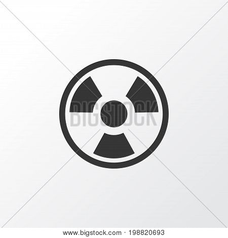 Premium Quality Isolated Dangerous  Element In Trendy Style.  Bio Hazard Icon Symbol.