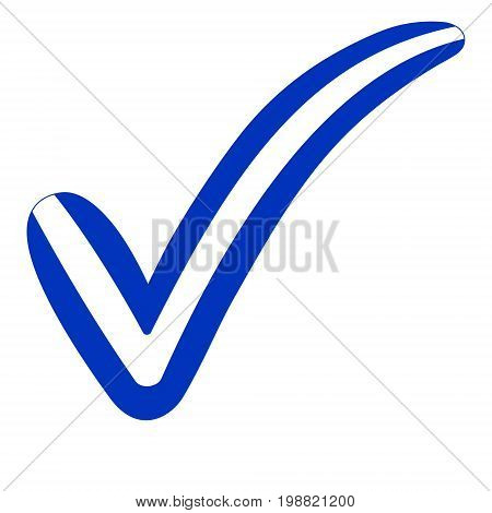 check mark style Israel flag symbol elections, voting and approval, vector concept check mark Israel tick il isr