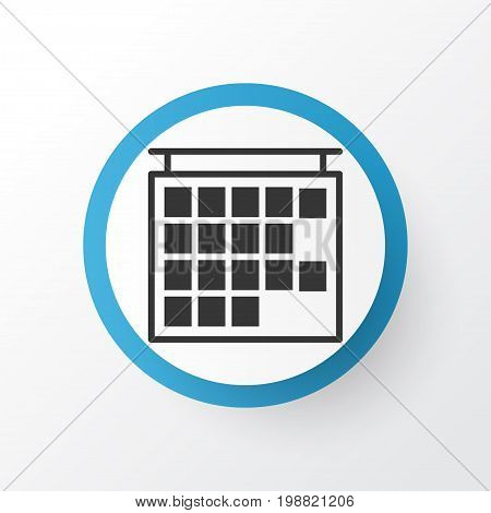 Premium Quality Isolated Departure Information Element In Trendy Style.  Timetable Icon Symbol.