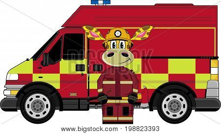 Fireman Giraffe & Van.eps