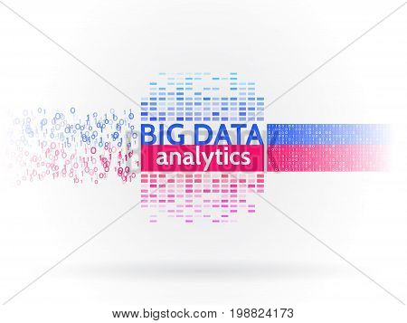 Abstract big data sorting information. Analysis of Information. Data mining. Filtering machine algorithms. Vector technology background.