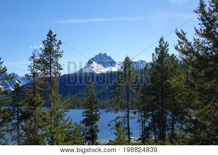 Idaho's Mt. Heyburn and Redfish Lake, Sawtooth Mountains near Stanley.