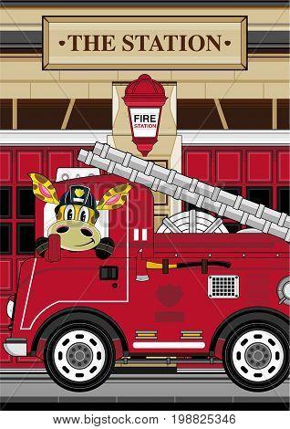 Giraffe Fireman Scene 2