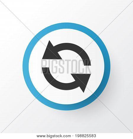 Premium Quality Isolated Synchronize Element In Trendy Style.  Sync Icon Symbol.