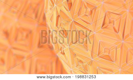 Colorfull Triangulation Background, Deformed Surface, 3D Rendering