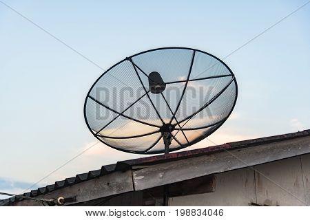 Satellite,satellite dishes antenna,Radio telescope scene at night in China