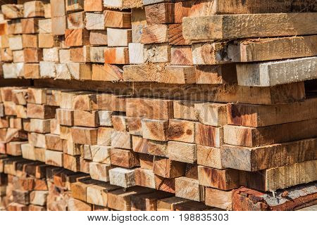 Square Slide Wood In Warehouse